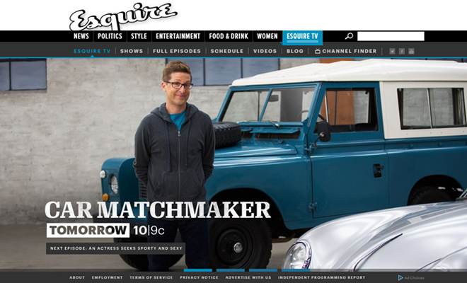 esquire tv network channel website