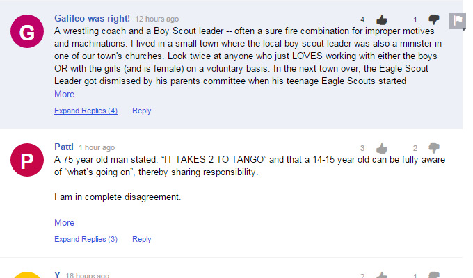 yahoo news collapsable comment threads