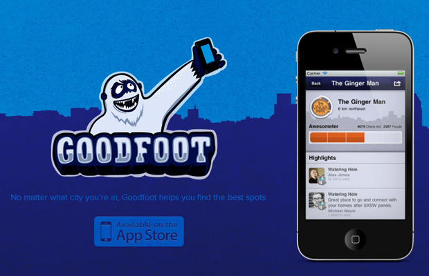 goodfoot app mobile website ios iphone