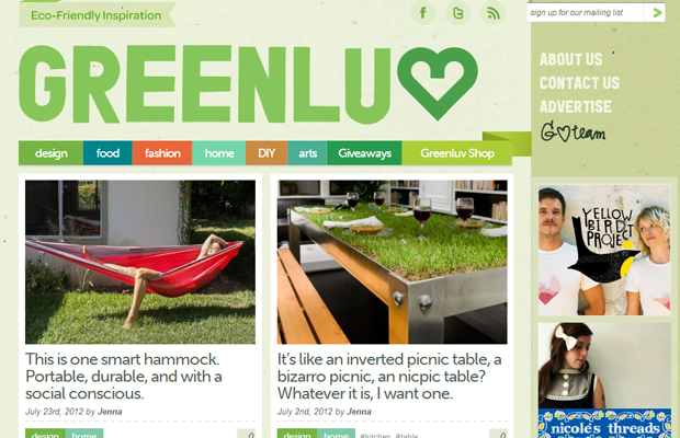 green website layout inspiration greenluv ecofriendly