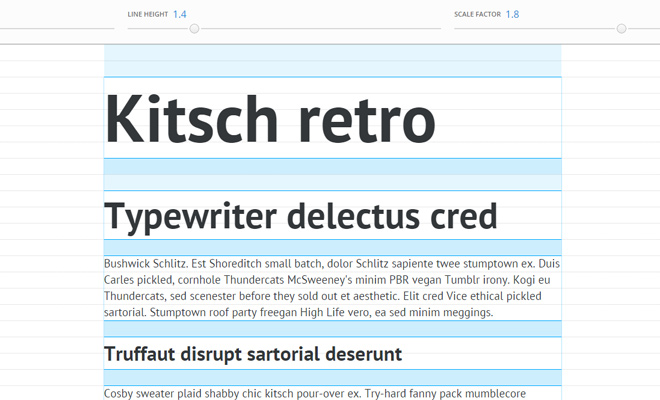 gridlover app typography website