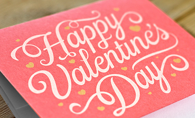 pink valentines day card print artwork