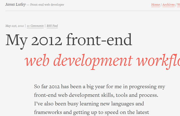 james lutley developer webdesign portfolio
