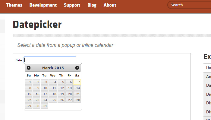 jquery ui library datepicker