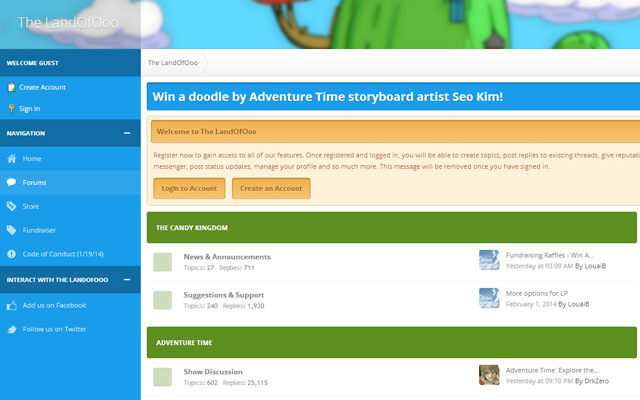 land ooo adventure time community forum