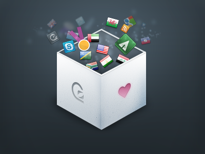 Magic box icons design freebie PSD