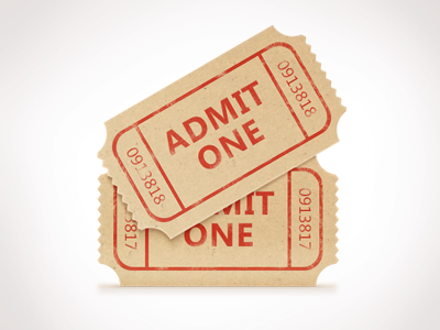 movie ticket stub freebie psd