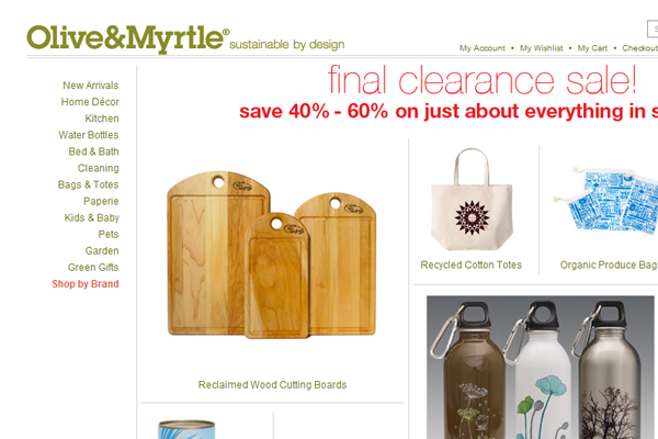 Olive Myrtle cooking utensils ecommerce shop online