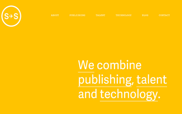 sydney stockholm yellow website layout