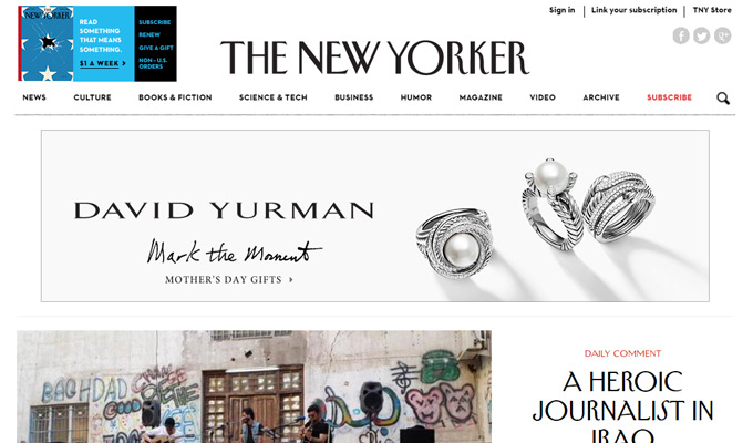 the new yorker magazine website
