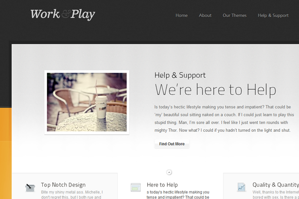 WPBundle Work and Play Portfolio blog theme
