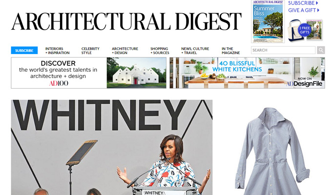 architectural digest website magazine