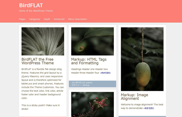 bird flat wordpress birdflat theme open source free
