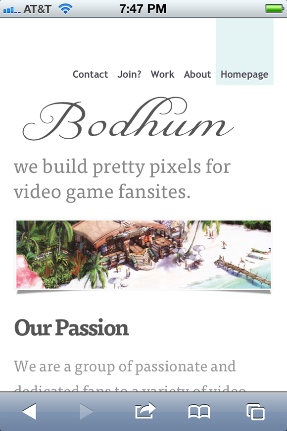 The Bodhum video game network