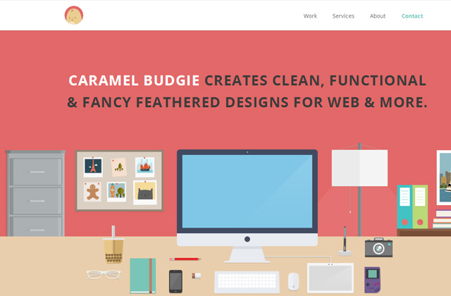 caramel budgie portfolio design website ani powers