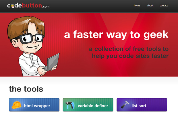 joslex llc codebutton website red design