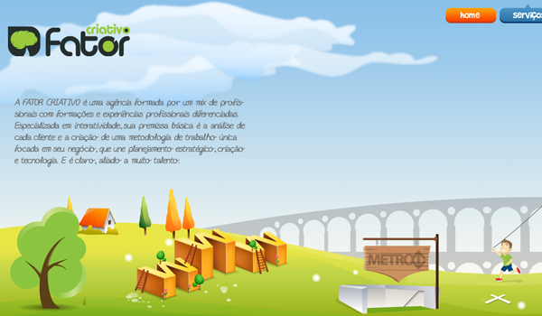 Fator website design illustration