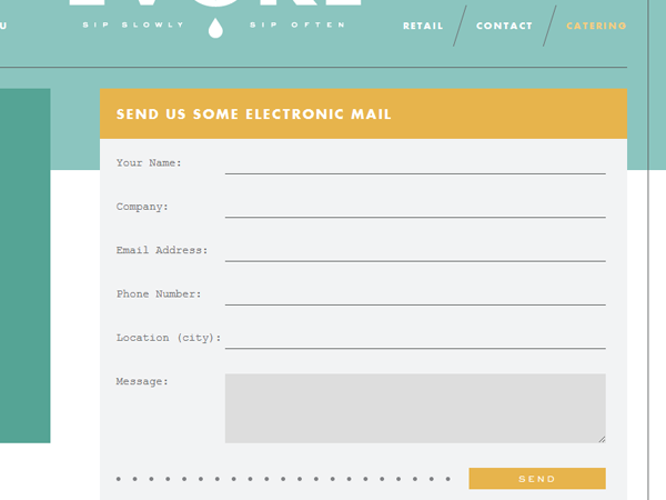 45 Examples of Sleek Contact Forms in Web Design - SpyreStudios