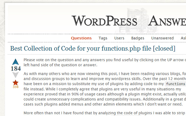 functions php wordpress open source codes list