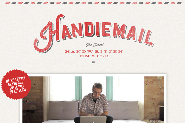 Handiemail website layout portfolio design