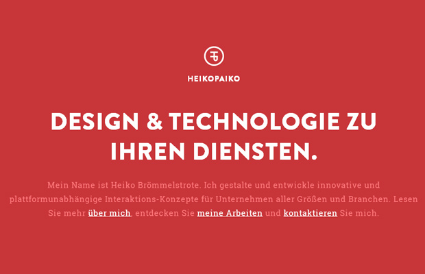 german web design red homepage heikopeiko