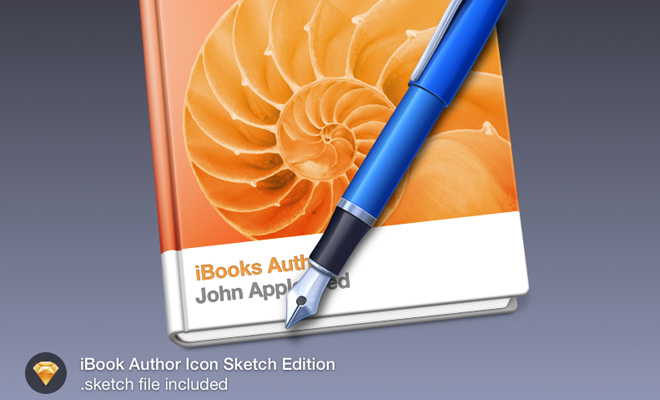 ibook author icon sketch freebie