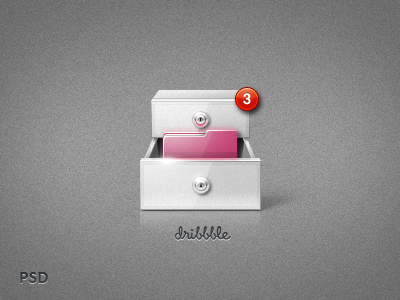 Icon design folder Dribbble PSD