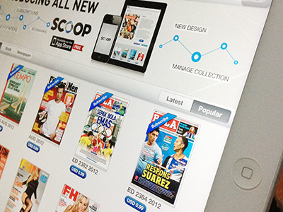 Library launched screen for iPad App