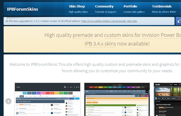 ipb forum skins invision power boards blue website