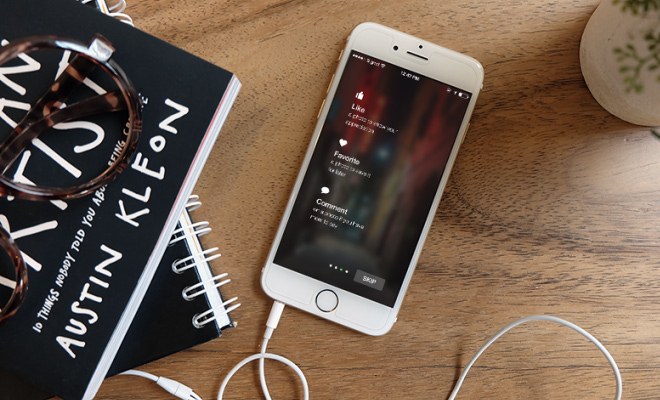 photorealistic charging iphone6 mockup