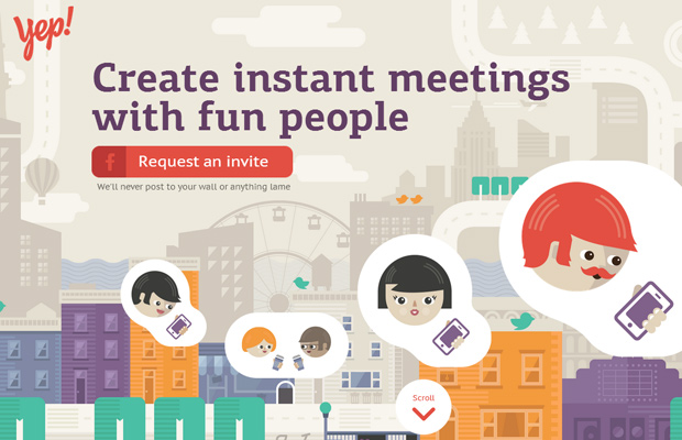 lets yep instant meetings with people startup website