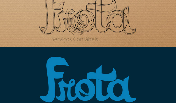 sketching lettering drawing logos example