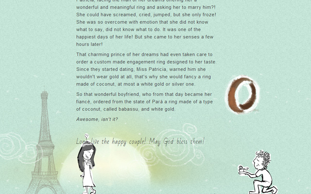 pati and felipe married wedding single page animation website