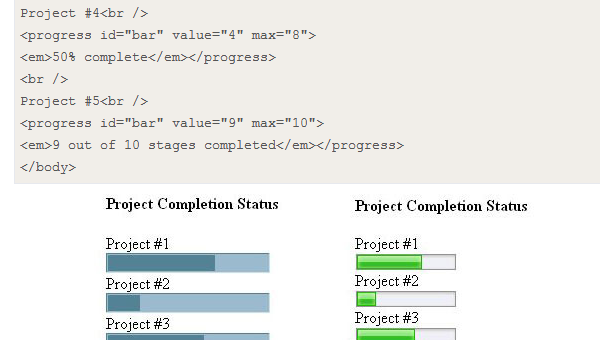 Quick easy HTML5 CSS3 progress loading bars