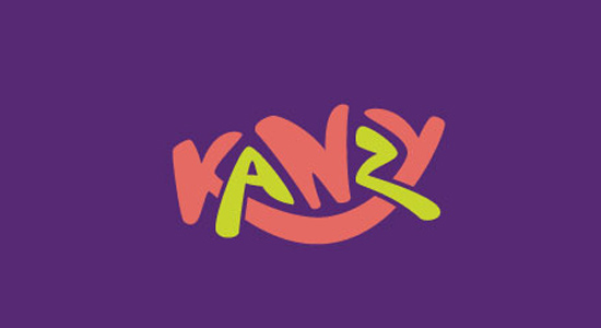 kanzy logo branding design purple