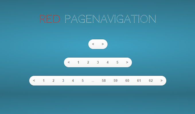 red pagination ui interface