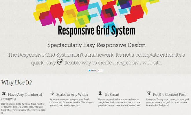 responsive grid system open source project