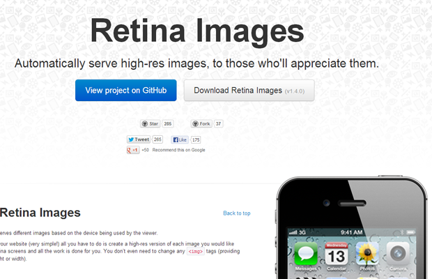 retina images webapp interface webdesign