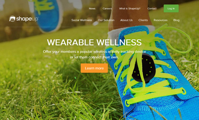 shapeup website wellness inspiration design fullscreen images