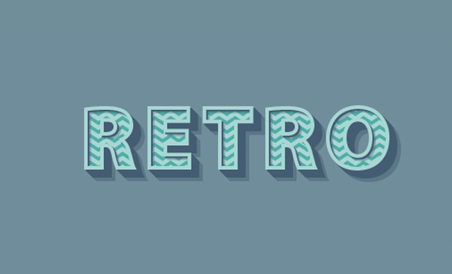 typography retro text effect tutorial