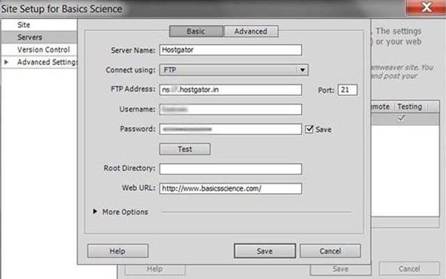 dreamweaver cs6 wordpress website connect howto