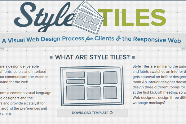 Style Tiles website design responsive