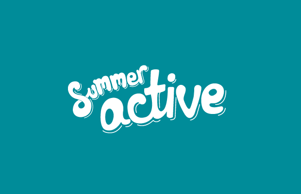 logo typography green summer active