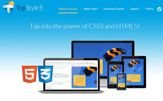 topstyle 5 html5 css3 design code windows software