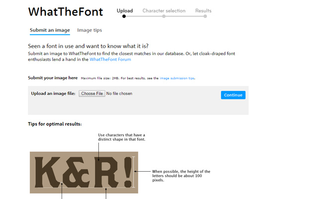 whatthefont website webapp resource
