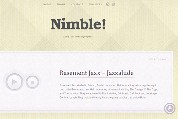 WPBundle Nimble simple blog tumblog WordPress theme