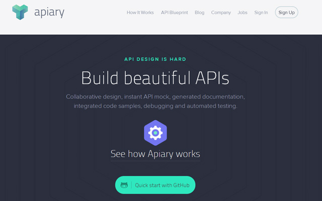 apiary service building apis website flat
