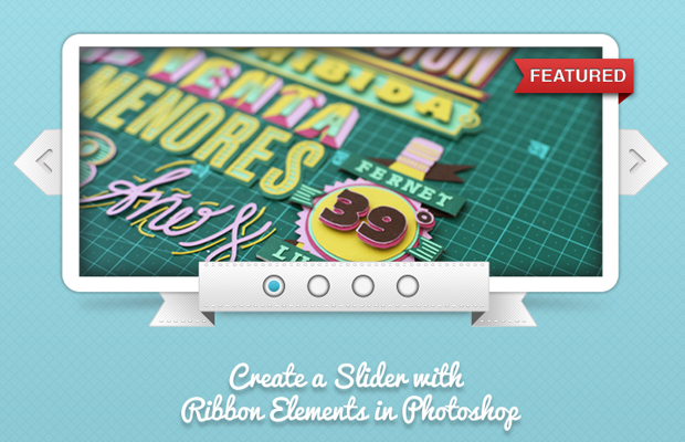 ribbon slider photoshop effect howto