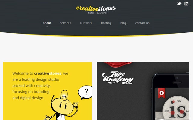 creative stones website studio layout