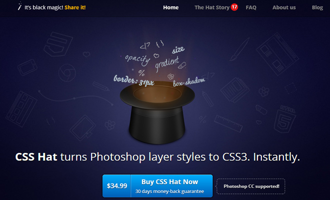 css hat convert photoshop psd code plugin